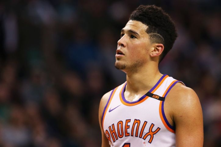 NBA young star Devin Booker, shooting guard for the Phoenix Suns