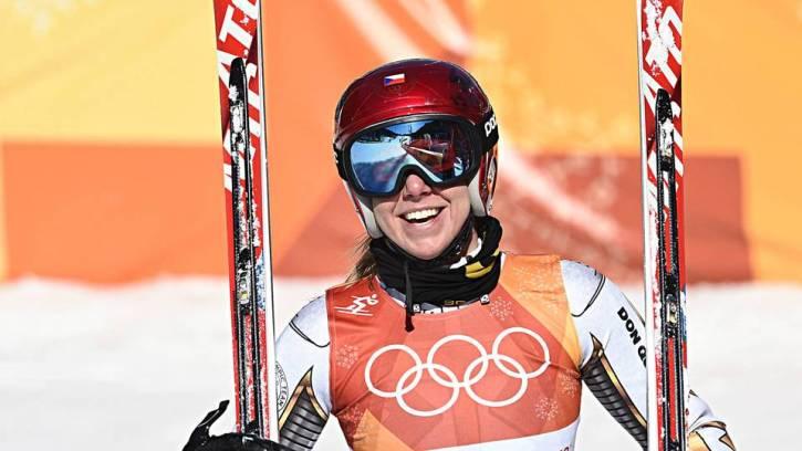 Ester Ledecka, snowboarder from the Czech Republic