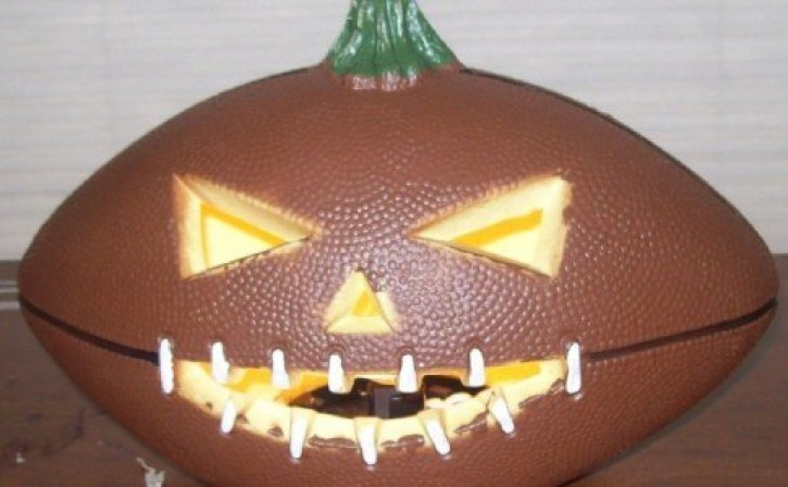 A halloween themed american football