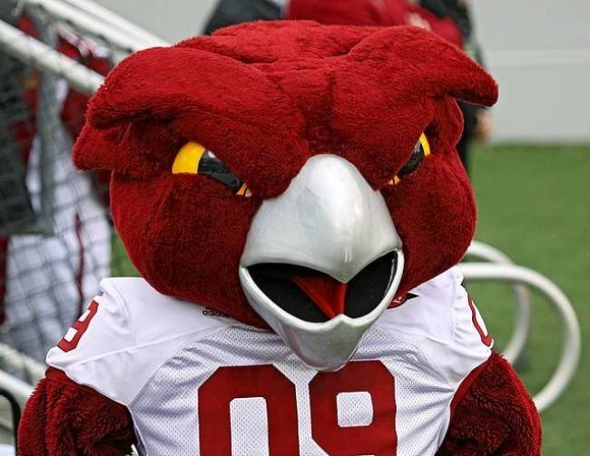 A photo of the Temple University mascot, Hooter the Owl