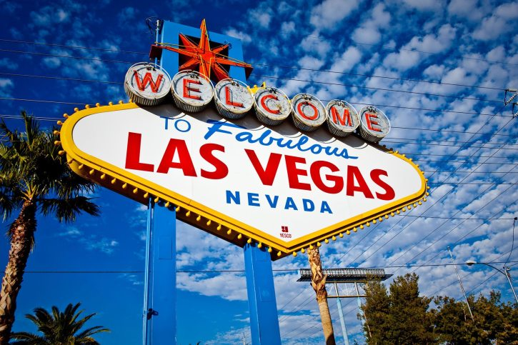 'Welcome to Las Vegas' sign near the strip