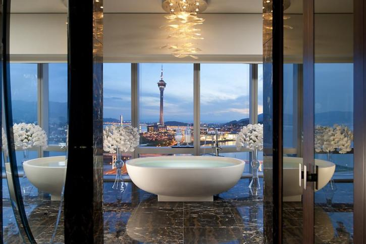 A view from inside the Presidential Suite at the Mandarin Oriental in Macau