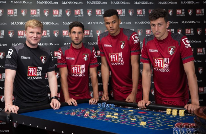 The Bournemouth football team sponsored by Mansion
