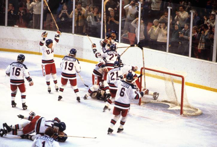 """The """"Miracle on Ice"""" game between the USA and Soviet Union"""