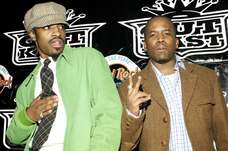 """""""Andre 3000"""" and """"Big Boi"""", stars of Outkast"""