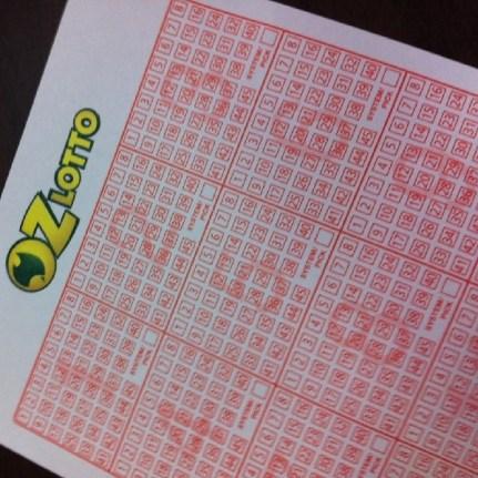 An Australian lottery ticket
