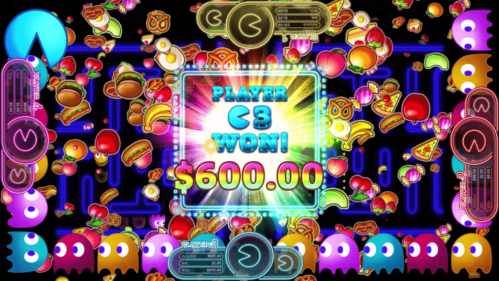 A players winnings from a Pac-Man casino game