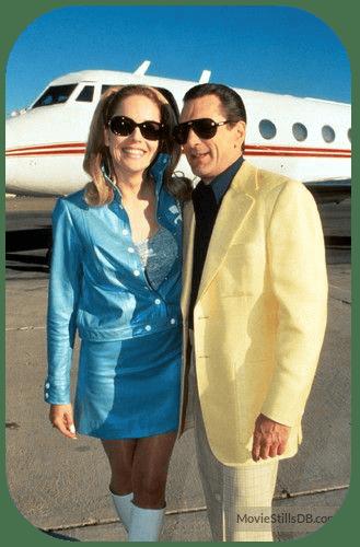 Robert De Niro & Sharon Stone in Casino movie standing in front of private jet