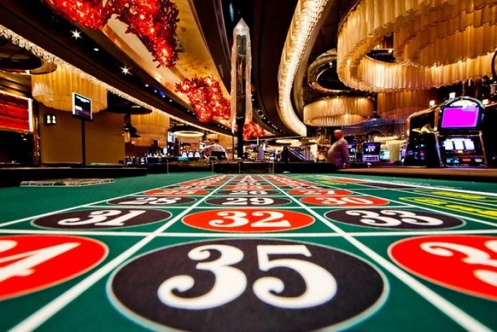 Mesa de ruleta de casino