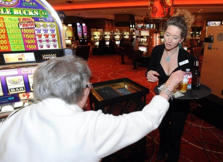 Slot players can order drinks from their slots screen at Bally's casino in Atlantic City