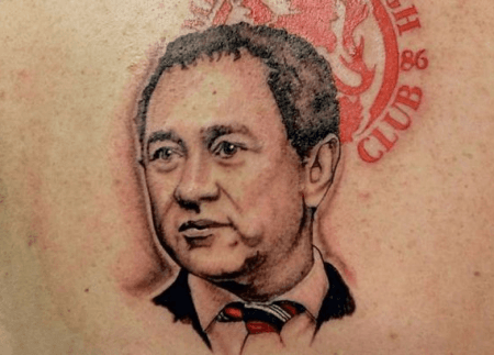Tattoo of Steve Gibson's face