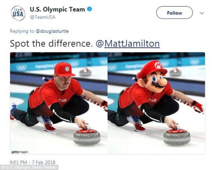 US Curler who resembles Super Mario