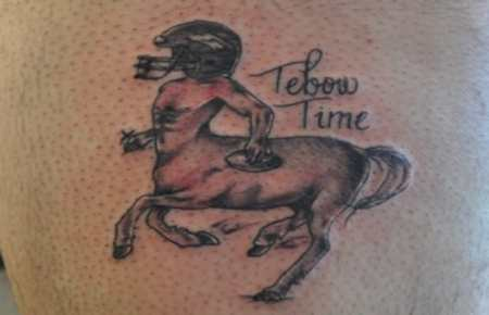 Tatto of Tim Tebow as a Minotaur