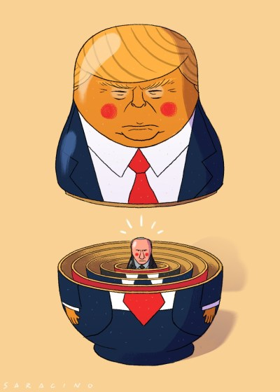 Donald Trump Russian Doll with Putin Inside