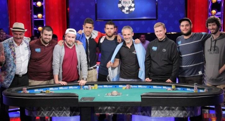 WSOP Main Event final table