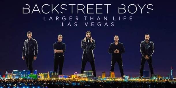 poster for backstreet boys vegas show 2017