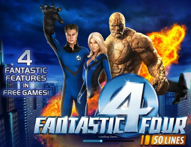 fantastic four marvel slot mobile game screen