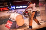 competitors in lumberjack championship event