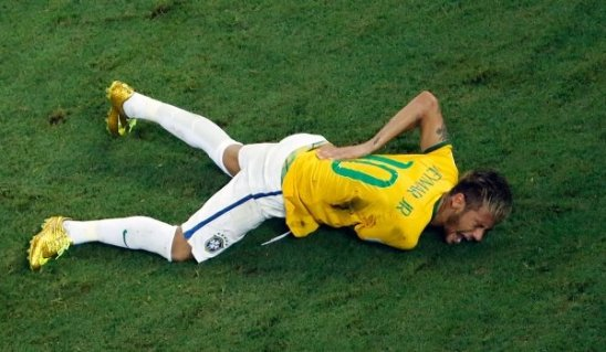 Neymar, broken vertebrae, World Cup 2014