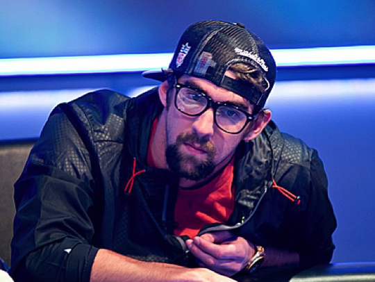 Former Olympic athlete Michael Phelps now enjoys lapping up pots in Las Vegas.