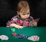 kid playing poker