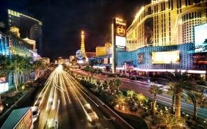 The Las Vegas Strip at Night. (Image: Mrwallpaper.com)