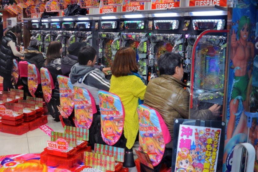 Japan pachinko slot machines