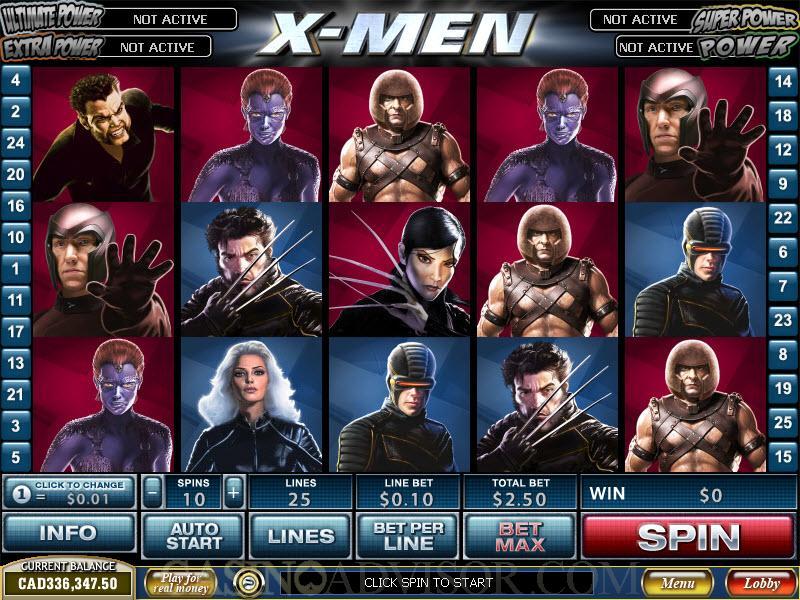 playtech x men online