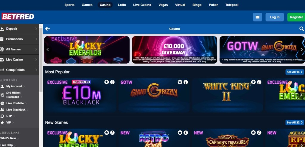 Betfred Casino New Customers Offer