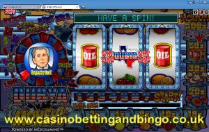 Dubya Money Fruit Machine Game Screenshot