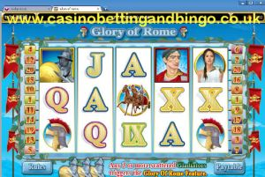 Glory of Rome Slots Game Screen
