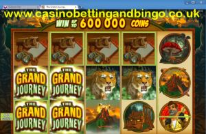 Grand Journey Slot Machine - Stacking Wilds Screenshot