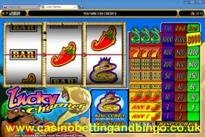 Click here to play Lucky Charmer at the Gaming Club UK.