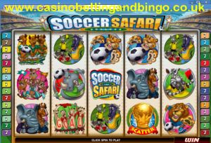 Soccer Safari Slot Machine Screen Preview