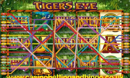 Tigers Eye Slot Machine - Stacked Wilds Paying Out!!