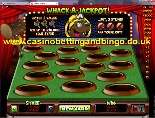 Whack A Mole Scratch Card Game
