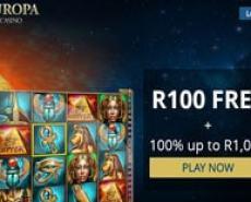 Europa Online Casino - Get a R100 Free Bonus