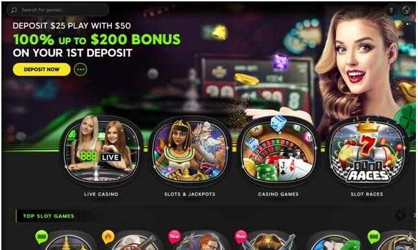 888 Casino offers
