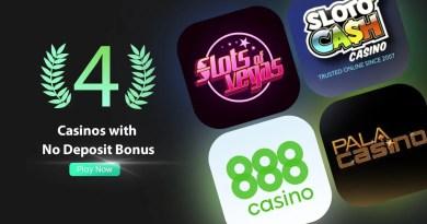 Best 4 US Casinos with No Deposit Bonus