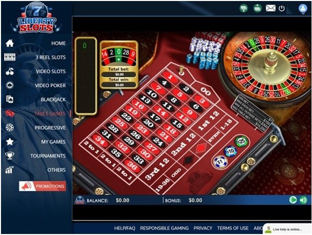 Liberty Slots Casino Table Games