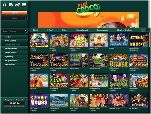 Play Croco online casino for US punters
