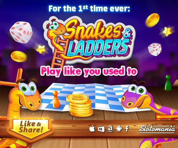 Play Snakes and Ladders game free at Slotomania casino