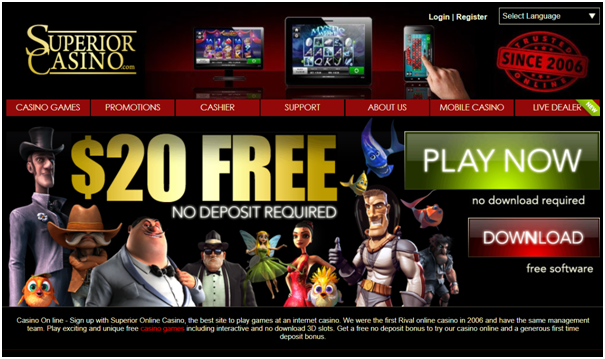 Superior casino for US players to plays slots
