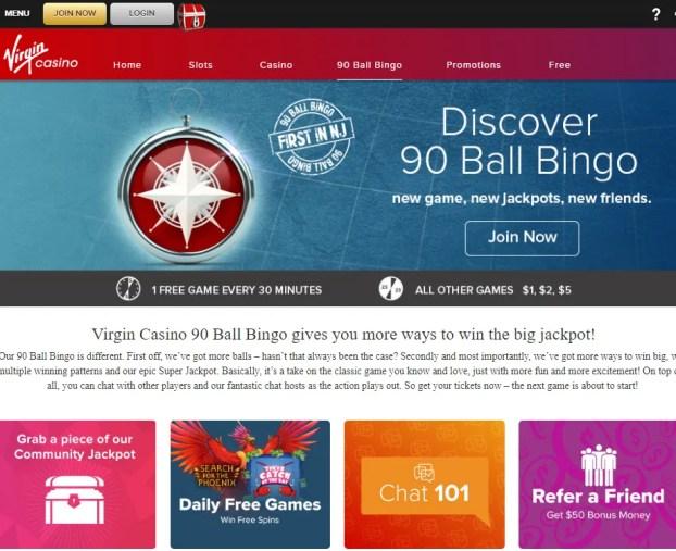 Virgin Casino - 90 ball bingo