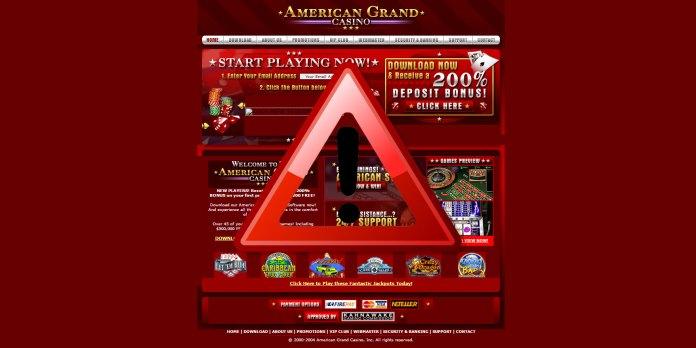 American Casino Scam Warning