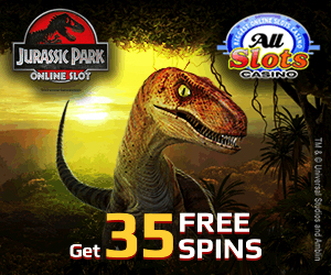 35 Gigantic Jurassic Park™ Slot FREE SPINS From All Slots