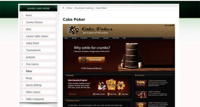 Cake poker Refuses