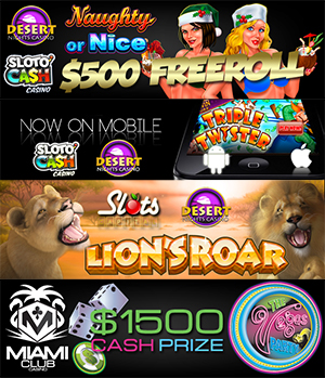 Miami Club New Paste&Pay Deposit Options, Freeroll's New Slots
