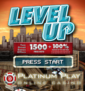 Platinum Play, Cash, Play and Level Up with 1500 Free Bets