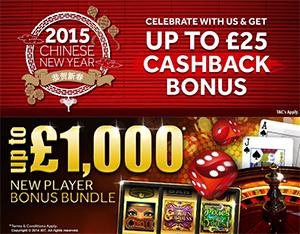 Up To £1,000 New Player Bonus Bundle + 10% Cashback